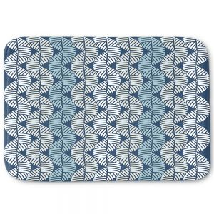Decorative Bath Mat Small from DiaNoche Designs by Julia Grifol - Waves On Blue
