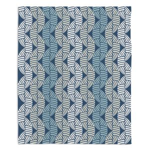 Artistic Sherpa Pile Blankets | Julia Grifol - Waves On Blue