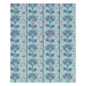 Decorative Wood Plank Wall Art | Julia Grifol White and Blue Flowers