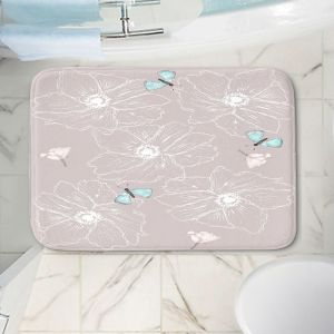 Decorative Bathroom Mats | Julie Ansbro - Anemone Butterfly