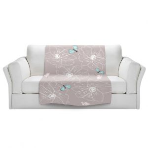 Artistic Sherpa Pile Blankets | Julie Ansbro - Anemone Butterfly