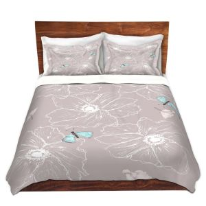 Artistic Duvet Covers and Shams Bedding   Julie Ansbro - Anemone Butterfly