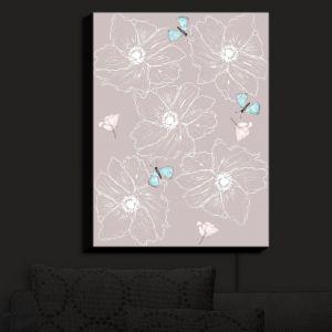 Nightlight Sconce Canvas Light | Julie Ansbro - Anemone Butterfly | Flowers Bugs