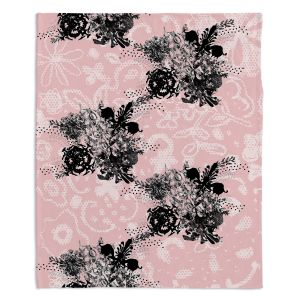 Decorative Fleece Throw Blankets | Julie Ansbro - Baroque Boquet