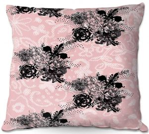 Decorative Outdoor Patio Pillow Cushion | Julie Ansbro - Baroque Bouquet