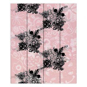 Decorative Wood Plank Wall Art | Julie Ansbro - Baroque Boquet