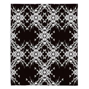 Decorative Fleece Throw Blankets | Julie Ansbro - Blackberry Lace II