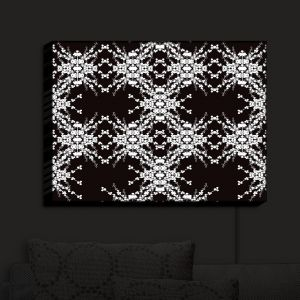 Nightlight Sconce Canvas Light | Julie Ansbro - Blackberry Lace II | Abstract Patterns Lace