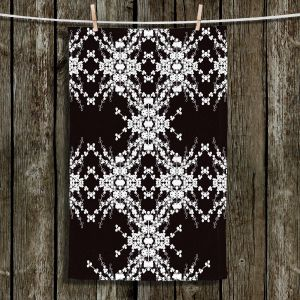 Unique Hanging Tea Towels | Julie Ansbro - Blackberry Lace II | Abstract Patterns Lace
