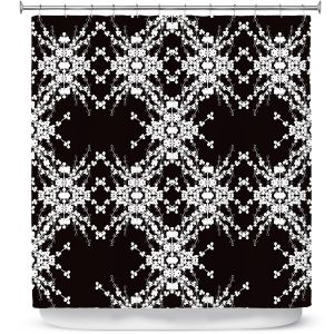 Premium Shower Curtains | Julie Ansbro - Blackberry Lace II