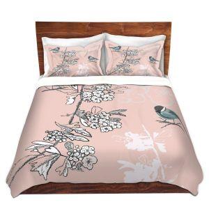 Artistic Duvet Covers and Shams Bedding | Julie Ansbro - Blue TIT Bird