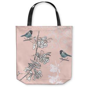 Unique Shoulder Bag Tote Bags | Julie Ansbro - Blue TIT Bird