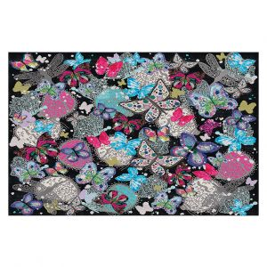 Decorative Floor Coverings | Julie Ansbro - Butterflies Black