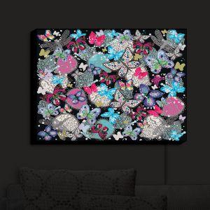 Nightlight Sconce Canvas Light   Julie Ansbro - Butterflies Black   Butterflies Patterns