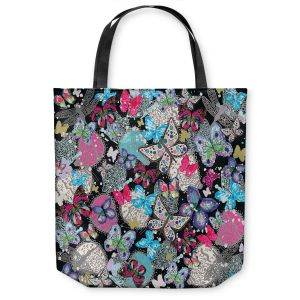 Unique Shoulder Bag Tote Bags |Julie Ansbro - Butterflies Black