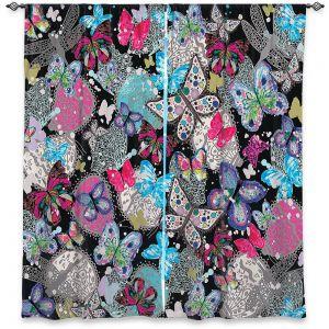 Decorative Window Treatments | Julie Ansbro - Butterflies Black