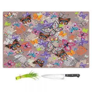 Artistic Kitchen Bar Cutting Boards | Julie Ansbro - Butterflies Brown