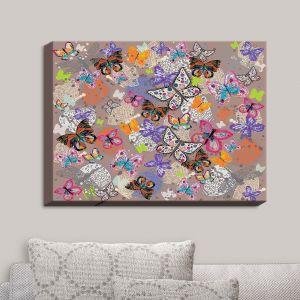 Decorative Canvas Wall Art | Julie Ansbro - Butterflies Brown | Butterflies Patterns