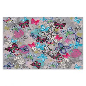 Decorative Floor Coverings | Julie Ansbro - Butterflies Grey