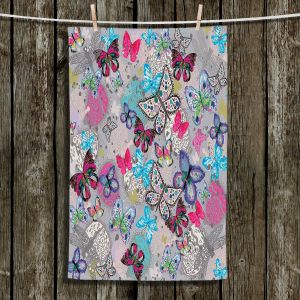 Unique Bathroom Towels | Julie Ansbro - Butterflies Grey