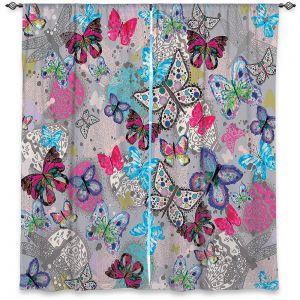 Decorative Window Treatments | Julie Ansbro - Butterflies Grey