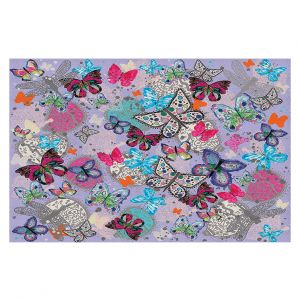 Decorative Floor Coverings | Julie Ansbro - Butterflies Lilac
