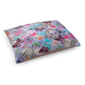 Decorative Dog Pet Beds | Julie Ansbro - Butterflies Lilac
