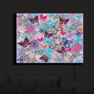 Nightlight Sconce Canvas Light   Julie Ansbro - Butterflies Lilac   Butterflies Patterns