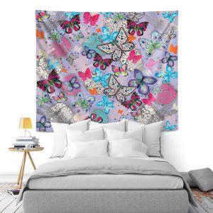 Artistic Wall Tapestry | Julie Ansbro - Butterflies Lilac