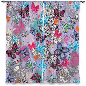 Decorative Window Treatments   Julie Ansbro - Butterflies Lilac