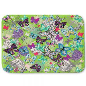 Decorative Bathroom Mats | Julie Ansbro - Butterflies Lime