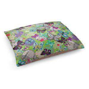 Decorative Dog Pet Beds | Julie Ansbro - Butterflies Lime