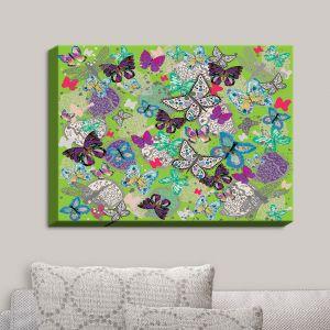 Decorative Canvas Wall Art   Julie Ansbro - Butterflies Lime   Butterflies Patterns