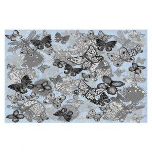 Decorative Floor Coverings | Julie Ansbro - Butterflies Pale Blue
