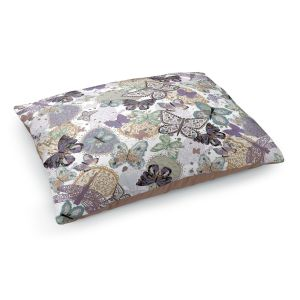 Decorative Dog Pet Beds | Julie Ansbro - Butterflies Pale Green
