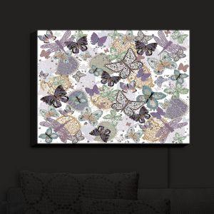 Nightlight Sconce Canvas Light   Julie Ansbro - Butterflies Pale Green   Butterflies Patterns