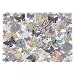 Countertop Place Mats | Julie Ansbro - Butterflies Pale Green