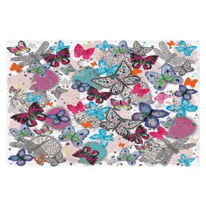 Decorative Floor Coverings   Julie Ansbro - Butterflies White Pink