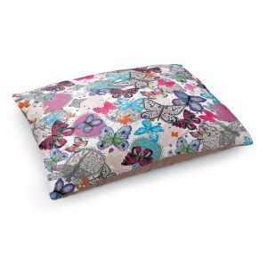 Decorative Dog Pet Beds | Julie Ansbro - Butterflies White Pink
