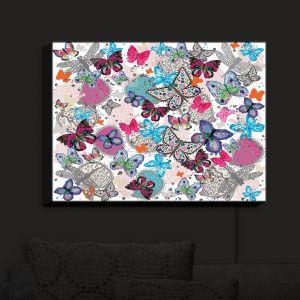 Nightlight Sconce Canvas Light   Julie Ansbro - Butterflies White Pink   Butterflies Patterns