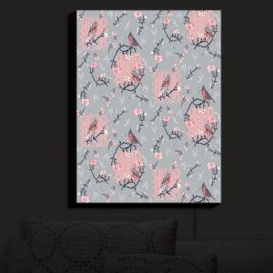 Nightlight Sconce Canvas Light | Julie Ansbro - Chaffinchlay II | Birds Flowers