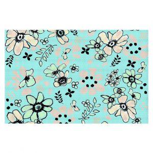 Decorative Floor Coverings | Julie Ansbro - Doodles Blue Pink