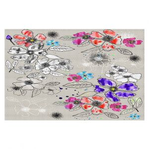 Decorative Floor Coverings | Julie Ansbro - Drawn Blossom