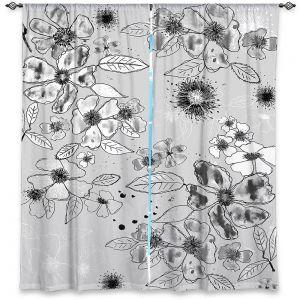 Decorative Window Treatments | Julie Ansbro - Drawn Blossom Gray