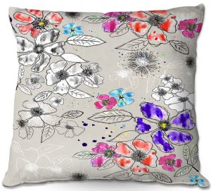 Throw Pillows Decorative Artistic   Julie Ansbro - Drawn Blossom