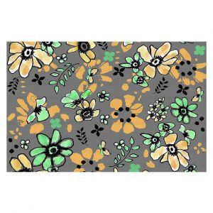 Decorative Floor Coverings | Julie Ansbro - Flodoodle Black Grey