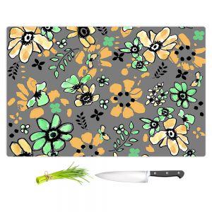 Artistic Kitchen Bar Cutting Boards | Julie Ansbro - Flodoodle Black Grey