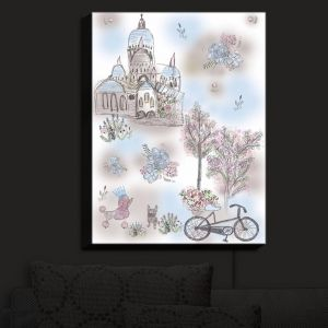 Nightlight Sconce Canvas Light | Julie Ansbro - French Poodles | Dogs Flowers Bicycle