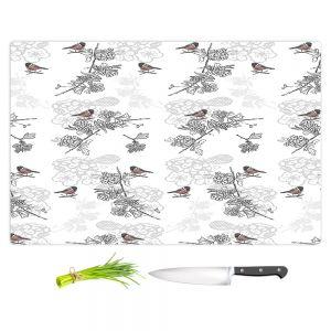 Artistic Kitchen Bar Cutting Boards | Julie Ansbro - Hawthorn Blush Birds