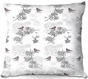 Throw Pillows Decorative Artistic | Julie Ansbro - Hawthorn Blush Birds